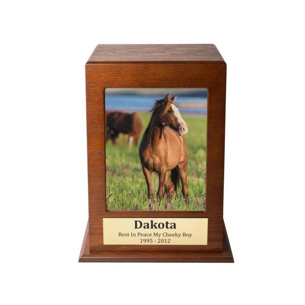 Horse Photo Box in Oak